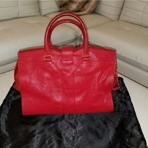 Yves Saint Laurent Bags - Yves Red leather Laurent Cabas Chyc bag!